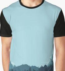 Forest Mountain Landscape Graphic T-Shirt