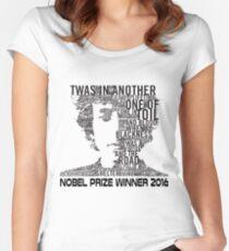 Nobel Winner 2016 Quotes Women's Fitted Scoop T-Shirt
