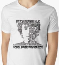 Nobel Winner 2016 Quotes Men's V-Neck T-Shirt