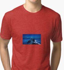 Lighthouse at Night Tri-blend T-Shirt