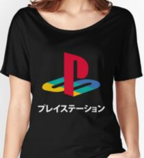 PS Video Game Logo Women's Relaxed Fit T-Shirt