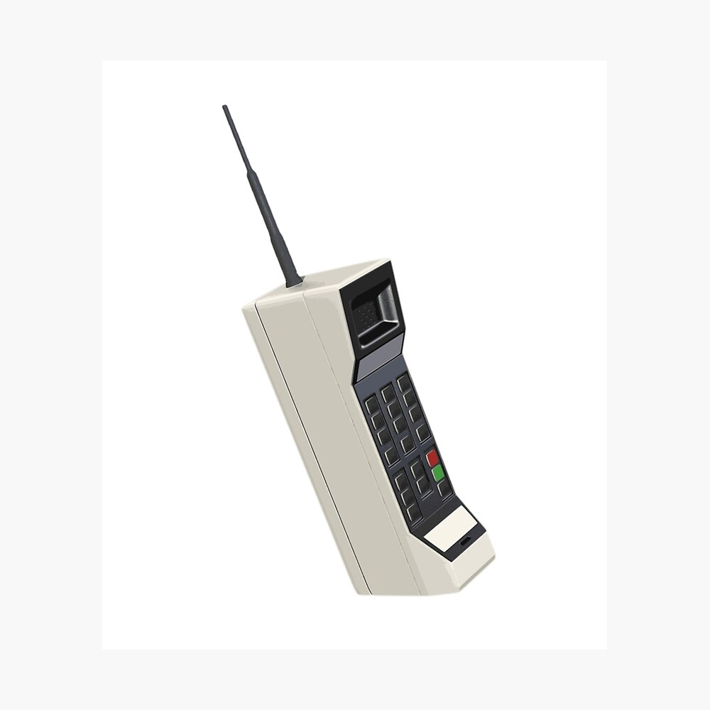 Vintage Wireless Cellular Phone Photographic Print