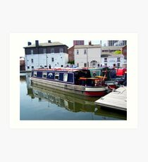 Canal barge Art Print