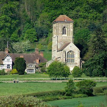Rural church by pluffy