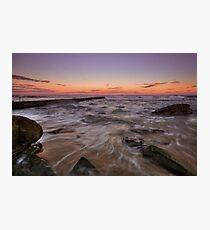 Bar Beach at Dusk Photographic Print