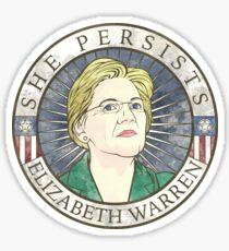 """Elizabeth Warren 'She Persists"""" Sticker"""