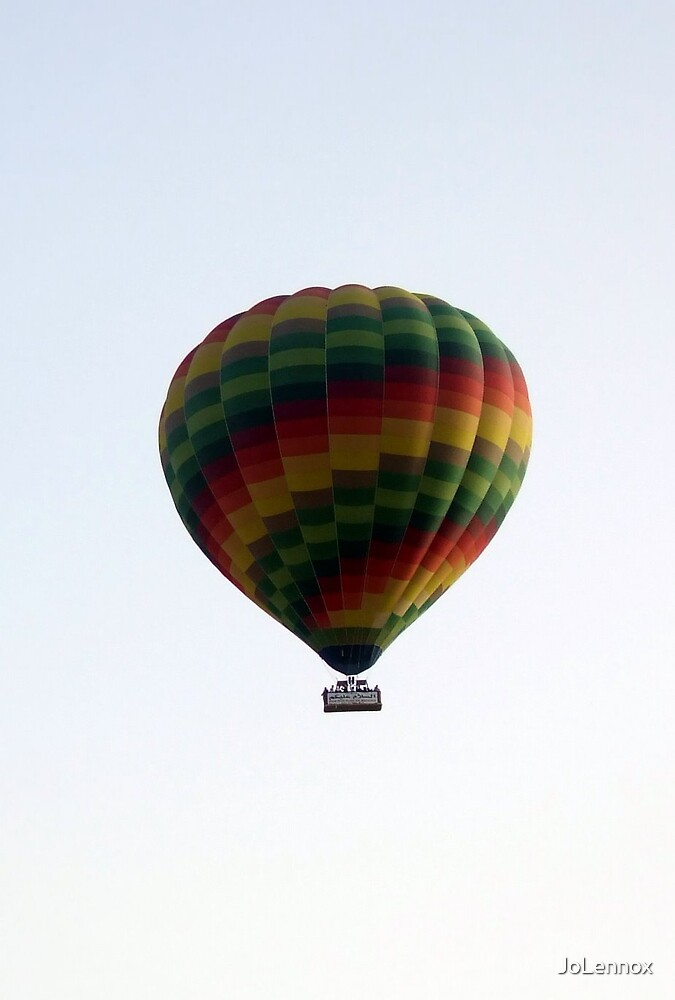 Colouful Hot Air Balloon In Egyptian Sky by JoLennox