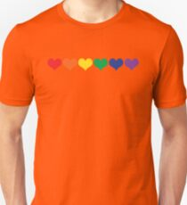 LGBT Colored Hearts  Unisex T-Shirt