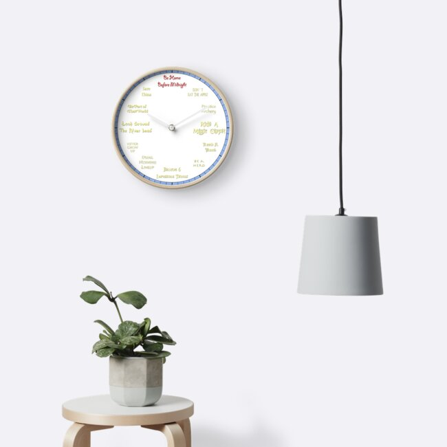 Whistle While You Work - Snow White Inspired Clock by PlatinumPhoenix