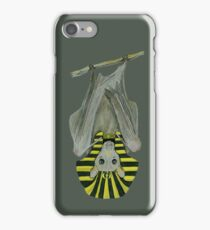 The Egyptian Fruit Bat (Grey) iPhone Case/Skin