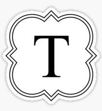 Fancy T Sticker