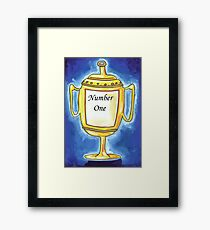 Trophy - Number One... Framed Print