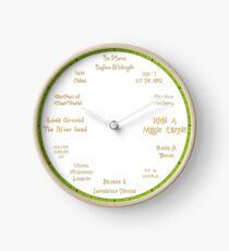 Never Grow Up - Tinkerbell Inspired Clock Clock