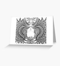 Joga Girl Greeting Card