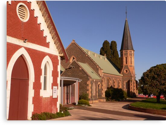 St Andrew's Uniting Church - Bacchus Marsh by Anne van Alkemade