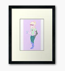 Soda Girl Framed Print