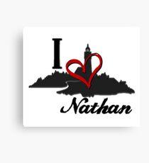 Haven I Love Nathan Logo Canvas Print