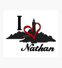 Haven I Love Nathan Logo Photographic Print