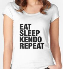 EAT SLEEP KENDO REPEAT Women's Fitted Scoop T-Shirt