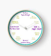Magic Carpet Ride - Aladdin Inspired Clock Clock