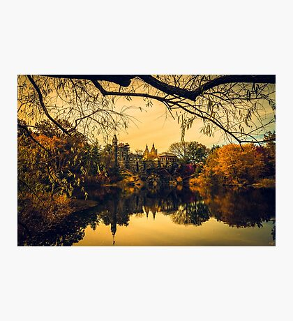 Autumn Reflections at Belvedere Castle Photographic Print