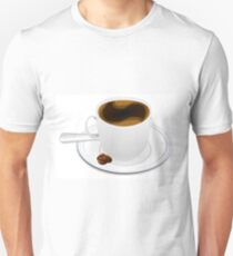 Coffee beans cup drink espresso Unisex T-Shirt
