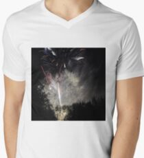 Fireworks - Dancing light Men's V-Neck T-Shirt