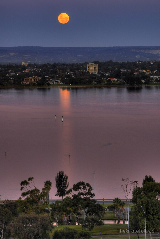 Moonrise Over The Swan River by TheGratefulDad