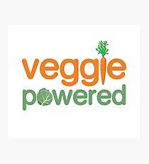 Veggie Vegetable Powered Vegetarian Photographic Print