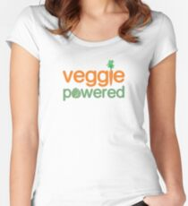 Veggie Vegetable Powered Vegetarian Women's Fitted Scoop T-Shirt