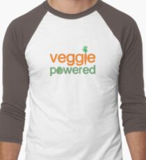 Veggie Vegetable Powered Vegetarian Men's Baseball ¾ T-Shirt