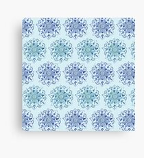 Green and Blue Mandalas Canvas Print