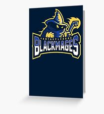 Fantasy League Black Mages Greeting Card