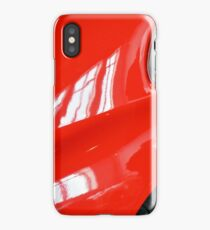 Detail of red sport curvy car iPhone Case/Skin