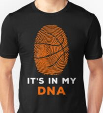Basketball Is In My DNA Fingerprint Shirt, Hoodie, Coffee Mug Cup for Team, Player, Coach - Gift for Mom, Dad, Mother's Day, Father's Day Slim Fit T-Shirt