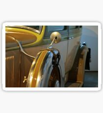 Vintage car detail with wheels Sticker