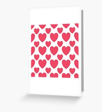 SWEET LOVE HEART ALL OVER PATTERN Greeting Card