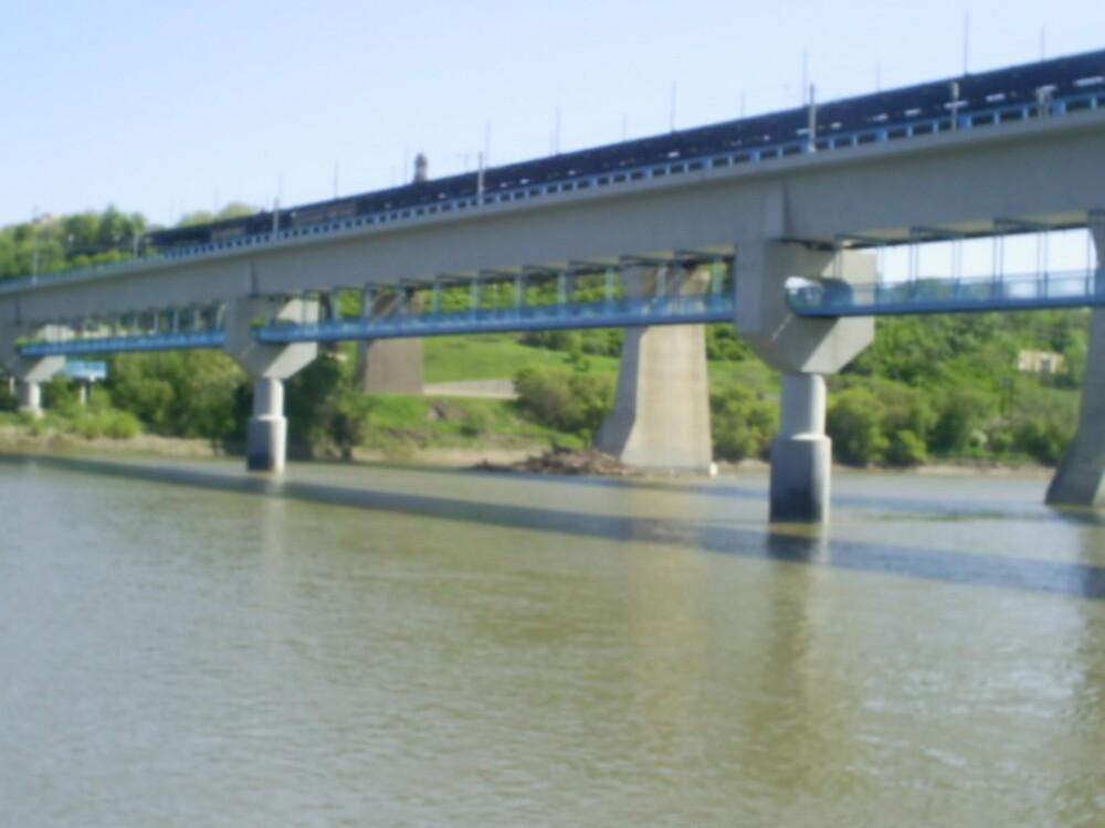 bridge across the riverside by oilersfan11