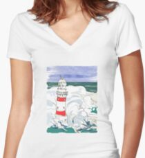 Lighthouse Camiseta entallada de cuello en V