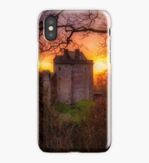 Sunset over Castle Campbell in Scotland iPhone Case/Skin