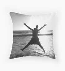 Excited for the Beach Throw Pillow