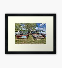 Stuck Trucks Framed Print