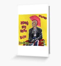 Punk & Disorderley Greeting Card