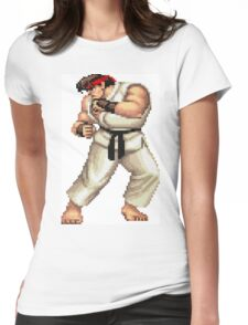 Street Fighter 2 Ryu Womens Fitted T-Shirt