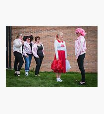 Hullywood Icons -  Anne Chatterton(Frenchie) Dianne Rees (Sandy) Zoe Allison (Rizzo) Claire Champlin (Jan), Beccy O'Sullivan (Marty). Photographic Print