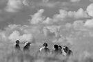 People in Clouds by John Violet