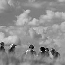 People in Clouds by John Violet
