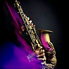 Alto saxophone player (purple flame) by laurentlesax