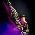 Alto saxophone player (purple flame) by laurentlesax