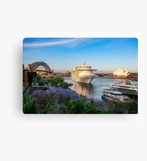 Cruise Liner visiting Sydney Harbour Canvas Print